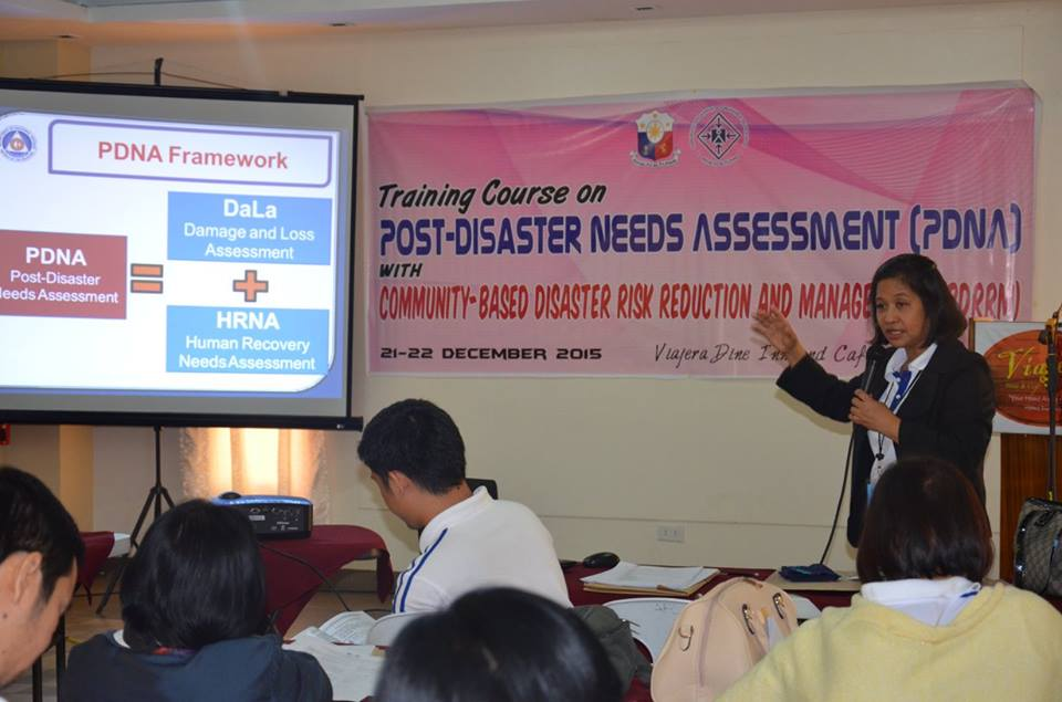 NRO XII Staff Undergo Post Disaster Needs Assessment Training Course
