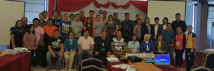 Resource persons and participants during the Regional Workshop on the Alignment of SDG and National/Regional Strategic Priorities on August 9-11, 2017 at Sun City Suites, General Santos City.