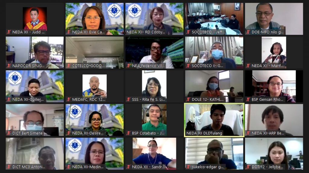 The Regional Task Force XII for COVID 19 – Economy Response Cluster virtual meeting on October 16, 2020.